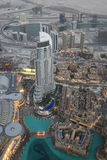 Bird View of Dubai from the Top of Burj Khalifah Royalty Free Stock Photography