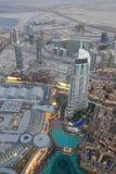 Bird View of Dubai from the Top of Burj Khalifah Stock Photo