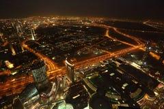 Bird View of Dubai from the Top of Burj Khalifah Stock Photography