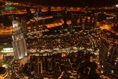 Bird View of Dubai from the Top of Burj Khalifah Royalty Free Stock Photography
