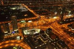 Bird View of Dubai from the Top of Burj Khalifah Stock Photos