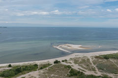 Bird view in laboe east over the baltic sea Royalty Free Stock Photos
