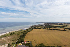 Bird view in laboe east over the baltic sea Stock Photo