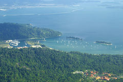 Bird view of Langkawi bay Stock Images