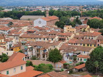 Bird-view of Lucca in Italy Royalty Free Stock Photo
