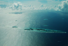 Bird-view of Maldives. The panorama (bird-view) of islands in Maldives Royalty Free Stock Photography