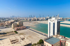 Bird view of Manama city, the capital of Bahrain Royalty Free Stock Photo