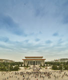 Bird view on mausoleum of Chairman Mao Ze Dong Royalty Free Stock Photography
