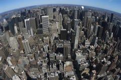 Bird view of midtown. Of Manhattan Royalty Free Stock Photos