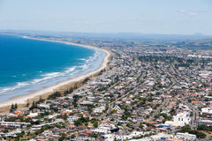 Bird view on Mount Maunganui. Bird view on the coast from top of Mount Maunganui Royalty Free Stock Photography