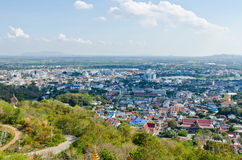 Bird view of Nakhonsawan city Royalty Free Stock Photos