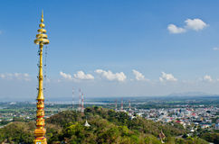Bird view of Nakhonsawan city Royalty Free Stock Photo