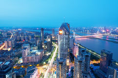 Bird view at Nanchang China. Royalty Free Stock Photos