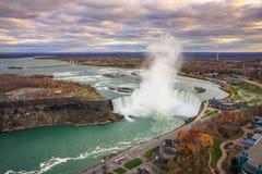 Bird View of Niagara Falls Stock Photos