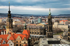 Bird view over Dresden Royalty Free Stock Photos