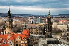 Bird view over Dresden royalty free stock photos