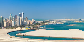 Bird view panorama of Manama city, Bahrain Royalty Free Stock Photo