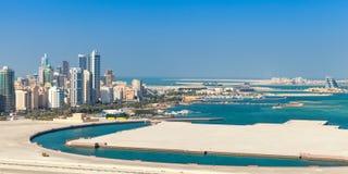 Bird view panorama of Manama city, Bahrain Royalty Free Stock Photo