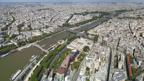 Bird view of paris and seine Royalty Free Stock Photos