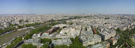 Bird view of paris and seine Stock Photo