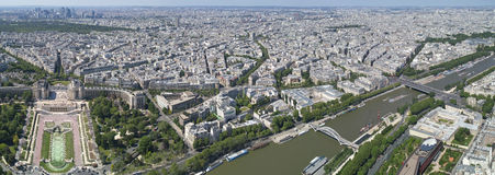 Bird view of paris and seine Royalty Free Stock Photography