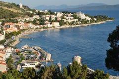Bird-view of Podgora. Croatia Royalty Free Stock Photography