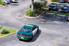 Bird view of police car, Sheriff in Florida Stock Image