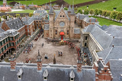 Bird view of the Ridderzaal, Binnenhof, the Hague. The Ridderzaal (Knights Hall) is located inside the old the dutch parliament buildings (Binnenhof stock photos