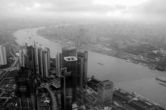 Bird view of Shanghai Stock Photography
