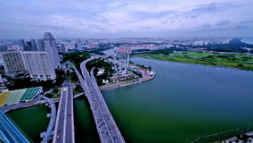 A bird view of Singapore from observation stock video