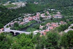 Bird View of Veliko Tarnovo Stock Photos
