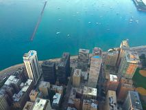 Bird view of waterfront. Birdview of the waterfront in Chicago Stock Photography