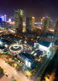 Bird view at Wuhan China stock images