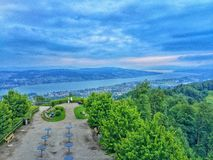 Bird view of Zurich Royalty Free Stock Image
