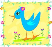 Bird in Vine Frame Stock Photos