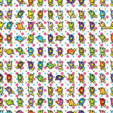 Bird wait tile seamless pattern Stock Photo