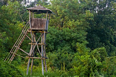 Bird watch tower royalty free stock photography