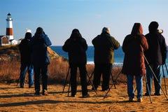 Bird Watchers at Montauk Point Royalty Free Stock Photo