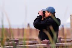 Bird-watching Immagini Stock Libere da Diritti