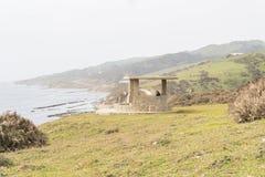 Bird-watching di Guadalmesi, parco naturale dello stretto, Cadice, Spagna immagine stock