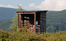 Bird-watching hut Stock Photography