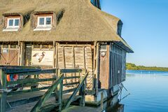 Free Bird Watching Hut On The Side Of Ranworth Broad With Thatched Roofing Royalty Free Stock Image - 172069006