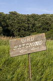 Bird Watching Sign Stock Photos