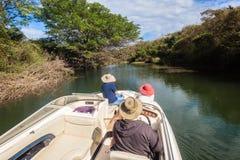 Bird Watching Skipper Ladies Boat Waters stock photography