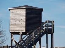 Bird watching tower Stock Photo