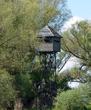 Bird watching tower in the Danube Delta Stock Image