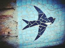 Bird wildlife animal beautiful nature blue. Architecture objects modern city centre London decoration Royalty Free Stock Images