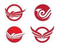 Bird wings logo Royalty Free Stock Photos