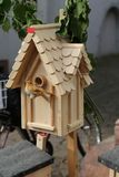 Bird wooden house Royalty Free Stock Photo