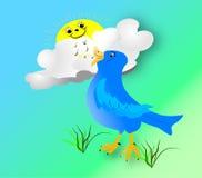 Bird2 iniziale illustrazione di stock